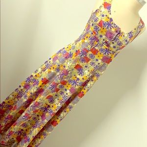 Vintage psychedelic hippie maxi dress